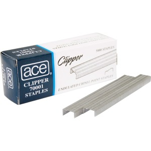 Advantus Ace Undulated Clipper Staples