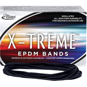 "Alliance Rubber 02004 X-treme Rubber Bands - Non-Latex - 7"" x 1/8"" - Archival Quality"