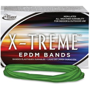"Alliance Rubber 02005 X-treme Rubber Bands - Non-Latex - 7"" x 1/8"" - Archival Quality"