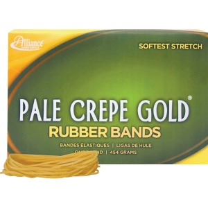 Alliance Rubber 20195 Pale Crepe Gold Rubber Bands - Size #19