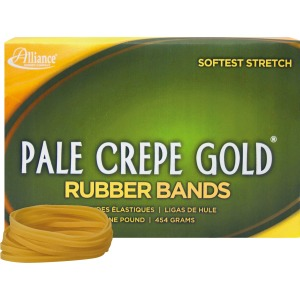 Alliance Rubber 20325 Pale Crepe Gold Rubber Bands - Size #32