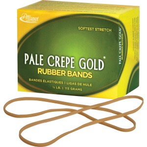 Alliance Rubber 21409 Pale Crepe Gold Rubber Bands - Size #117B