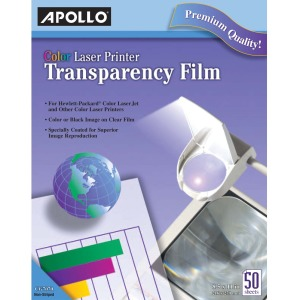 Apollo Laser, Inkjet Print Transparency Film