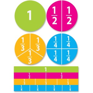 Ashley Dry Erase Fractions Die-cut Magnets
