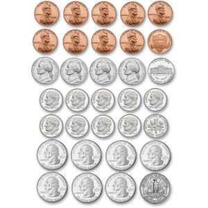 Ashley US Coin Money Set Die-cut Magnets