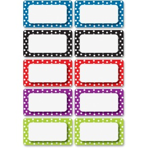 Ashley Dotted Dry Erase Nameplate Magnets