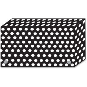Ashley Black/White Dots Design Index Card Holder
