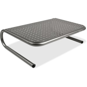 Allsop Metal Art Jr. Monitor Stand 14-Inch Wide Platform - Pearl Black (30165)