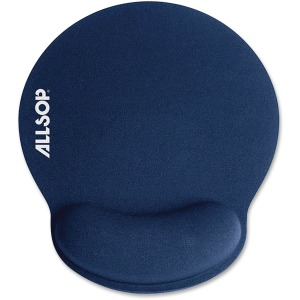 Allsop ComfortFoam Memory Foam Mouse Pad with Wrist Rest - Blue - (30206)