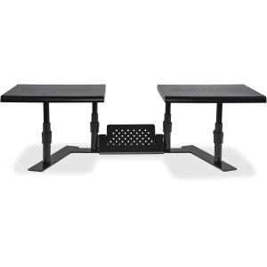 Allsop Metal Art ErgoTwin Height Adjustable Dual Monitor Stand - (31883)