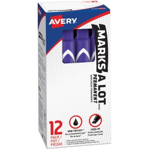 Avery&reg Large Desk Style Permanent Markers