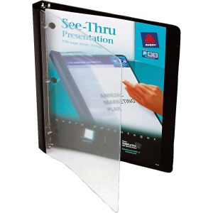 Avery&reg See-Thru Binders with Round Rings