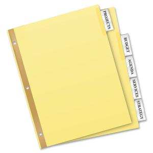 Avery® Big Tab Buff Colored Insertable Dividers - Gold Reinforced