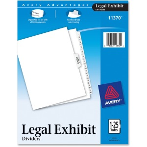 Avery® Premium Collated Legal Exhibit Dividers with Table of Contents Tab - Avery Style