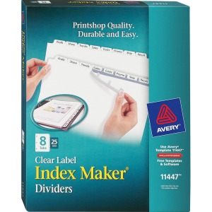 Avery® Print & Apply Clear Label Dividers - Index Maker Easy Apply Label Strip