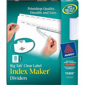 Avery® Big Tab Index Maker Index Divider