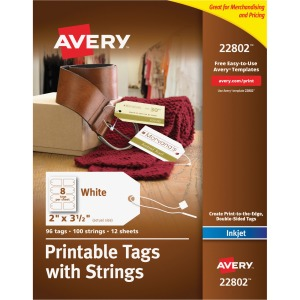 Avery® Printable Tags with String