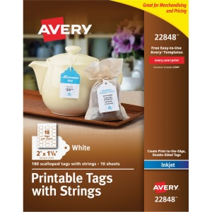 Avery® Printable Tags - Scallop Edge