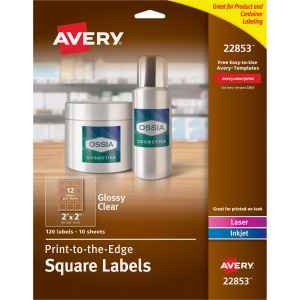 Avery® Easy Peel Glossy Clear Labels