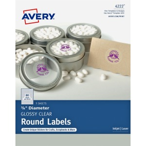 Avery® Clear Glossy Print-to-the-Edge Round Labels
