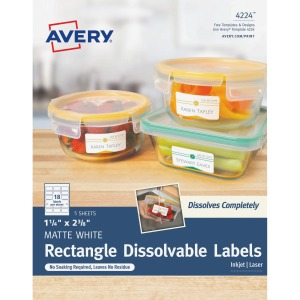 Avery® Rectangle Dissolvable Labels