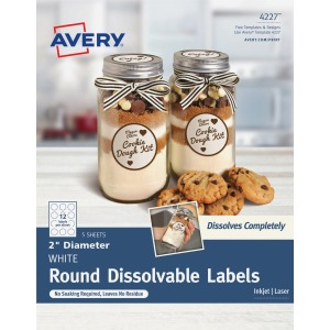 Avery® Round Dissolvable Labels