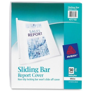 Avery&reg Sliding Bar Report Covers