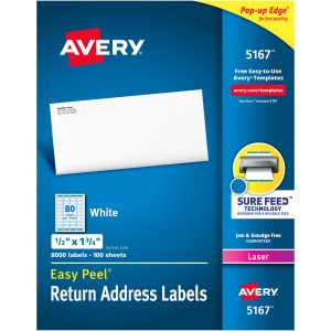 Avery® Easy Peel Return Address Labels - Sure Feed