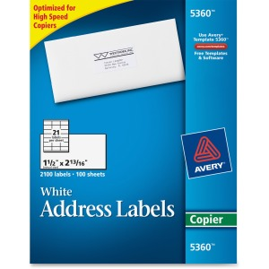 Avery® Address Labels for Copiers