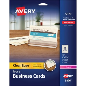 Avery® Clean Edge Laser Print Business Card