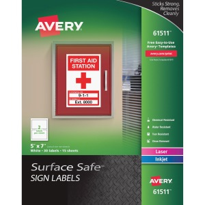 Avery® Surface Safe Sign Labels