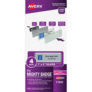 Avery® Mighty Badge Professional Reusable Name Badge System