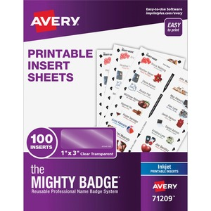 The Mighty Badge® Inkjet Laser/Inkjet Badge Insert