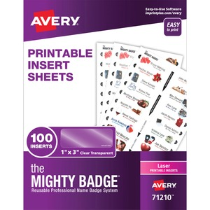 The Mighty Badge® Laser Laser/Inkjet Badge Insert