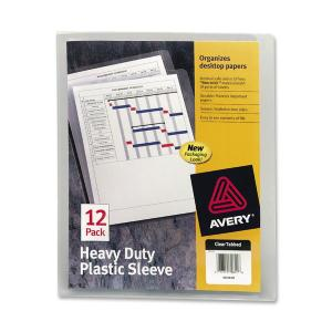 Avery&reg Heavy Duty Plastic Sleeves
