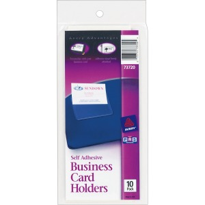 Avery® Self-Adhesive Business Card Holders - Top-Loading