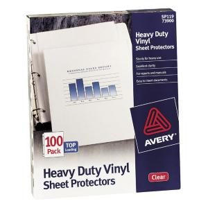 Avery&reg Heavy Duty Vinyl Sheet Protectors