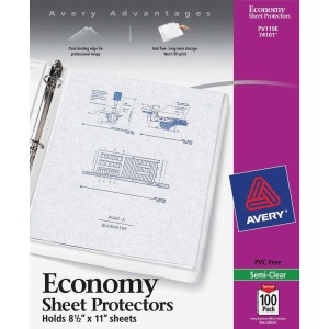 Avery&reg Economy Weight Sheet Protectors