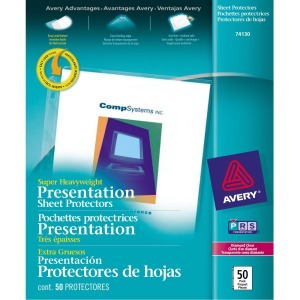 Avery&reg Diamond Clear Super Heavyweight Sheet Protectors