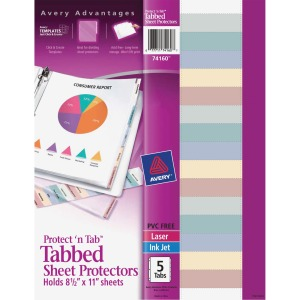 Avery&reg Tabbed Sheet Protectors