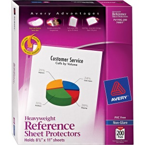 Avery&reg Non-Glare Heavyweight Sheet Protectors
