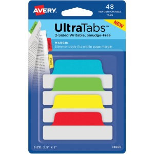 Avery® UltraTabs Repositionable Margin Tabs