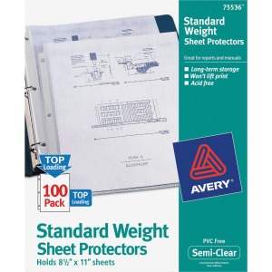 Avery&reg Standard Weight Sheet Protectors