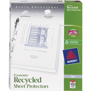 Avery&reg Recycled Economy Weight Sheet Protectors
