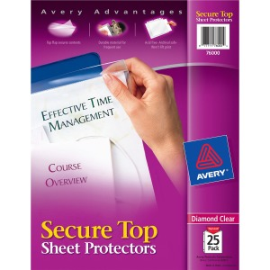 Avery&reg Secure Top Sheet Protectors