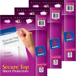 Avery® Secure Top Sheet Protectors