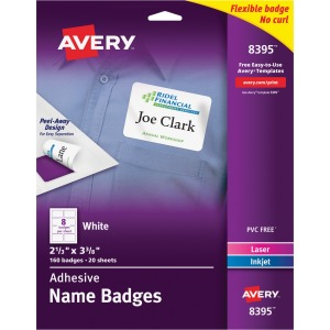 Avery® Premium Personalized Name Tags - Print or Write