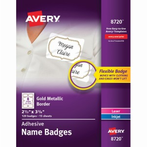 Avery® Self-Adhesive Removable Name Tag Labels