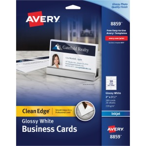 Avery® Clean Edge Inkjet Print Business Card