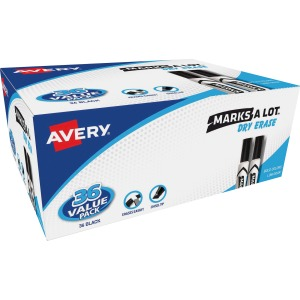 Avery® Marks A Lot Desk-Style Dry-Erase Marker Value Pack